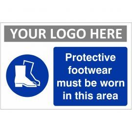 Protective Footwear Must Be Worn In This Area Sign (Landscape)