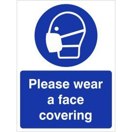 Please Wear A Face Covering Sign