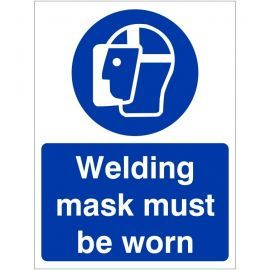 Welding Mask Must Be Worn Sign