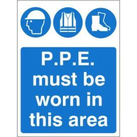 P.P.E Must Be Worn In This Area Sign