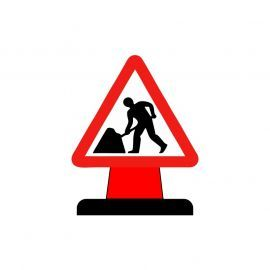 Men At Work Aluminium Composite Cone Sign