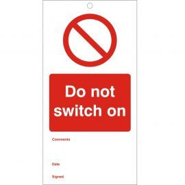 Do Not Switch On - Maintenance Tag