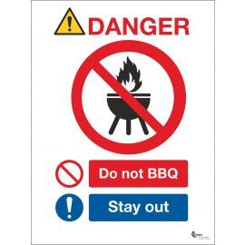 Danger Do Not BBQ Sign - Stay Out