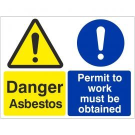 Danger Asbestos Permit To Work Sign