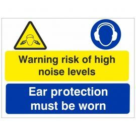 Warning Risk Of High Noise Levels Sign