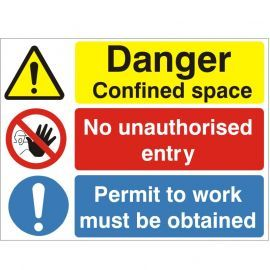 Danger Confined Space Sign Or Stickers