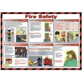 Fire Safety Laminated Poster