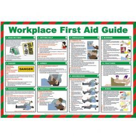 Workplace First Aid Guide Laminated Poster