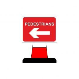 Pedestrian Arrow Left Aluminium Composite Cone Sign