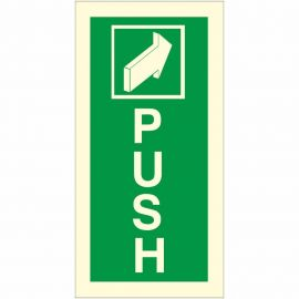 Push Arrow Forward Glow In Dark Sign