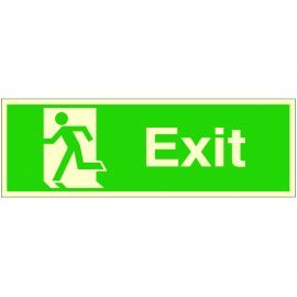 Exit 'Man Running Left' Glow In Dark Sign