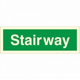 Glow In The Dark Stairway Identification Sign