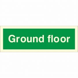 Ground Floor Fire Sign