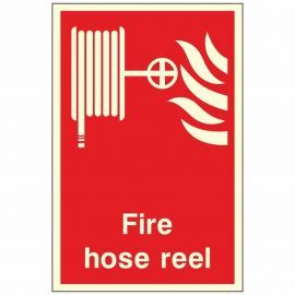 Photoluminescent Hose Reel Sign