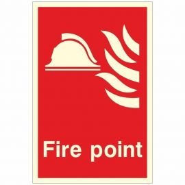 Photoluminescent Fire Point Sign