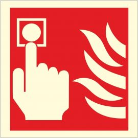 Photoluminescent Fire Alarm Sign