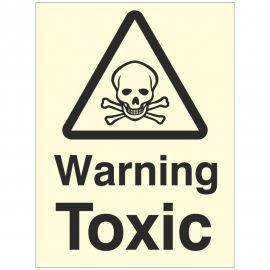 Warning Toxic Sign Glow In Dark