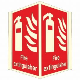 Fire Extinguisher  Projecting Glow In Dark Sign - 400W x 300H