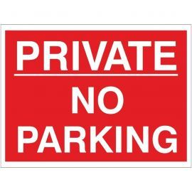 Private No Parking Sign