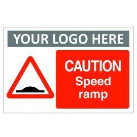 Caution Speed Ramp Custom Logo Sign