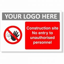 Construction Site No Unauthorised Persons Allowed Beyond This Point Sign