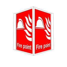 Fire Point Projecting Sign
