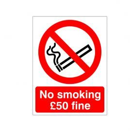 No Smoking £50 Fine Sign