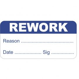 Pack of 1000 Rework Quality Control Labels