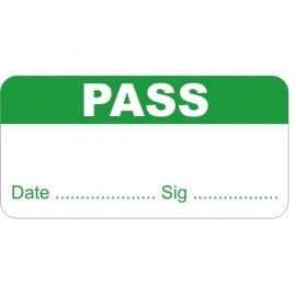 Pack of 1000 Pass Quality Control Labels