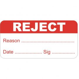 Reject Test And Measure Labels