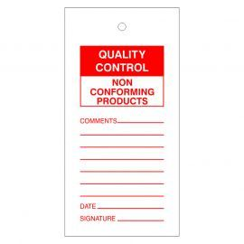 Quality Control Non Conforming Products Tags