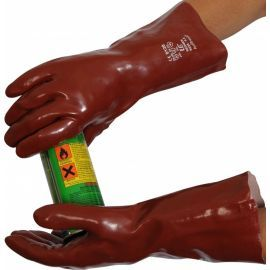 PVC Coated Gauntlet Chemical Resistant Gloves