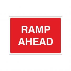 Ramp Ahead Temporary Sign - 1050W x 750Hmm