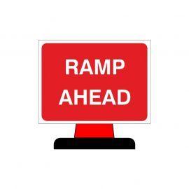 Ramp Ahead Aluminium Composite Cone Sign