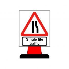 Single File Traffic Aluminium Composite Cone Sign