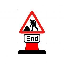 Men At Work End Aluminium Composite Cone Sign