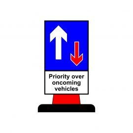Priority Over Oncoming Vehicles Aluminium Composite Cone Sign