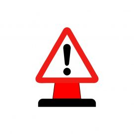 Danger Aluminium Composite Cone Sign