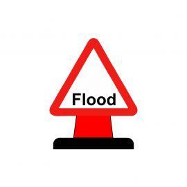 Flood Warning Aluminium Composite Cone Sign