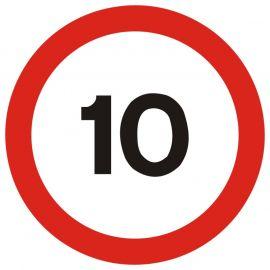 10 MPH Traffic Sign