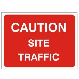 Caution Site Traffic - Traffic Sign - 1050W mm x 750Hmm