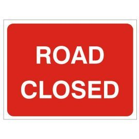 Road Closed  Temporary Traffic Sign