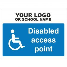 Disabled Access Point Sign - Composite Board