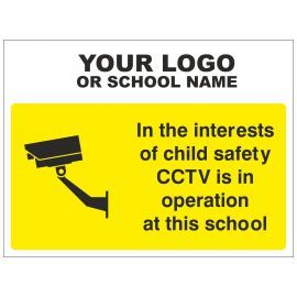 CCTV Is In Operation At This School Sign - Composite Board