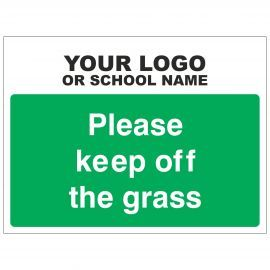 Please Keep Off The Grass School Sign - Composite Board