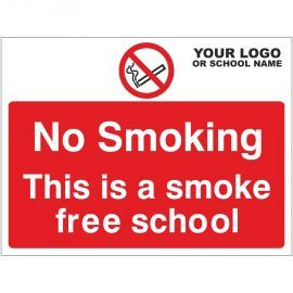 This Is A Smoke Free School Sign - Composite Board