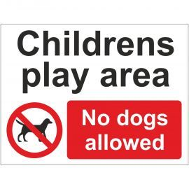 Childrens Play Area No Dogs Allowed School Sign - Composite Board