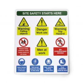 Site Safety Sign 300W x 350Hmm