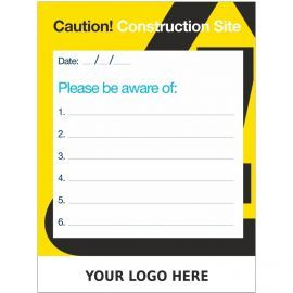 Custom Caution Construction Site Sign  900mm x 1200mm