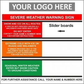 Severe Weather Warning Sign Composite Board